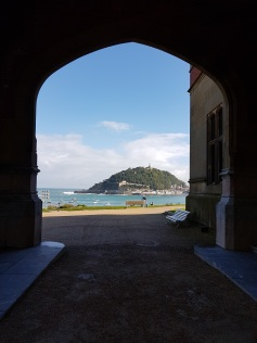 Looking out to sea from one of the archways