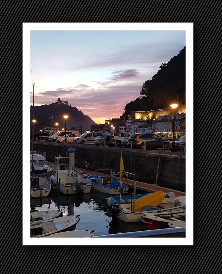 Sunset in San Sebastian