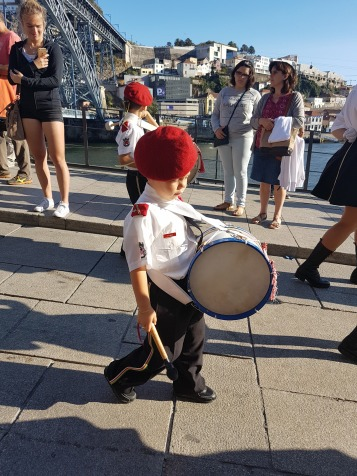 Cute little drummer boy