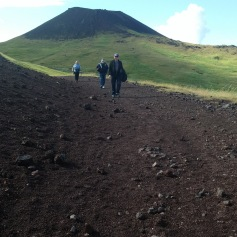 Walking the volcanic trail