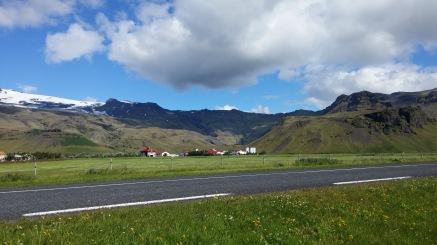 Thorvaldseyri farm at foot of Eyjafjnallajokull volcano