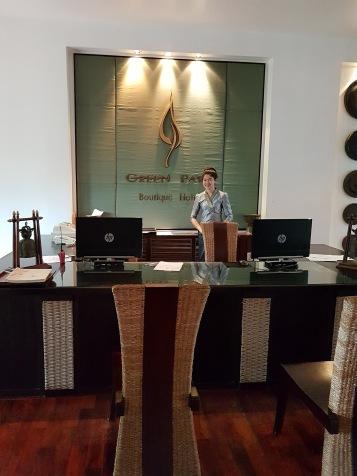 Friendly receptionist