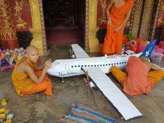 Model of Laos Airline Plane