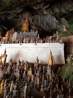 Buddha images inside the cave