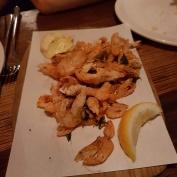 Whole deep fried prawns