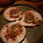 Scallops with spicy harissa