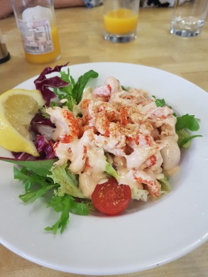 Fresh crab and prawn salad
