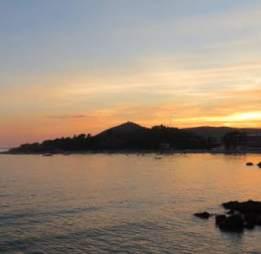 Beautiful Croatian sunset