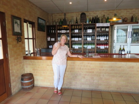 A quick tasting before lunch in the cellar door
