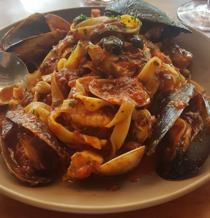 Seafood pasta for Anthony