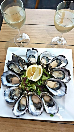 Oysters and wine!