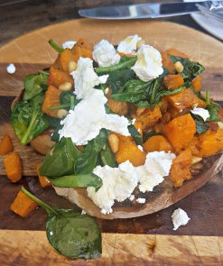 Sweet potato Feta and Basil Bruschetta