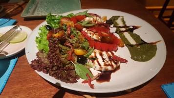Tomato and Mozzarella Salad with basil pesto