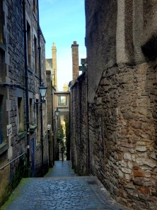 Cobblestone alleyway