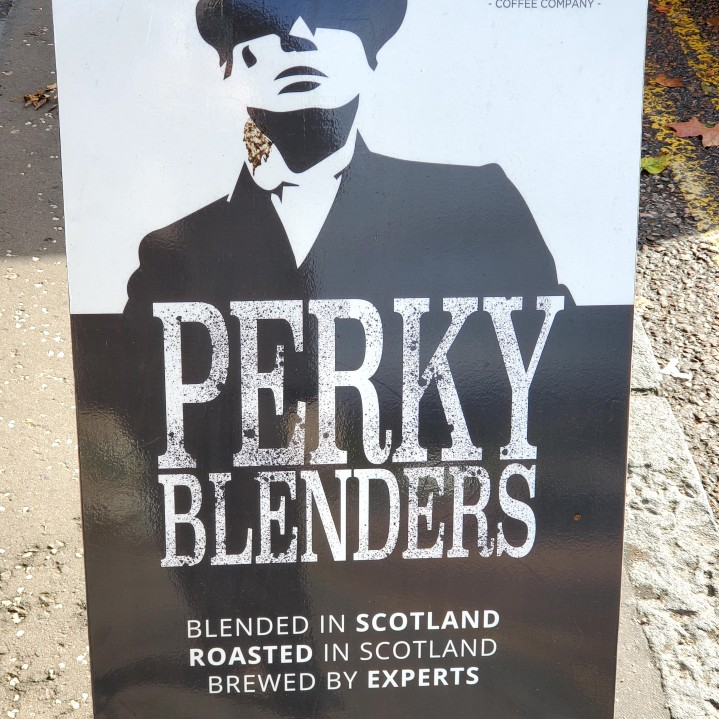 Had to have a coffee here, being a big Peaky fan!