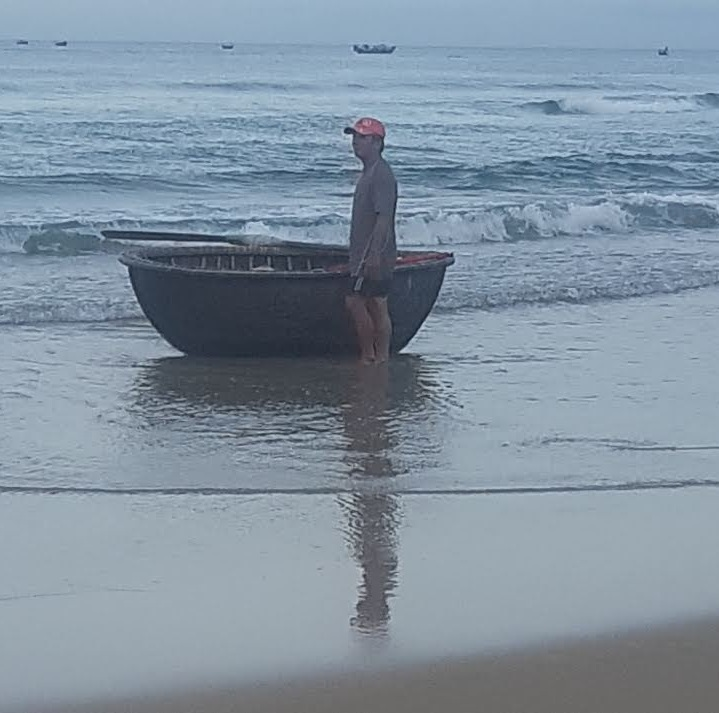 A typical Vietnamese fishing boat