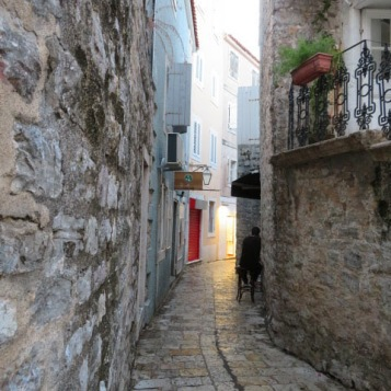 Narrow street inside the walled city