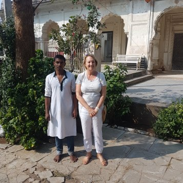 The custodian of the Paigah tombs