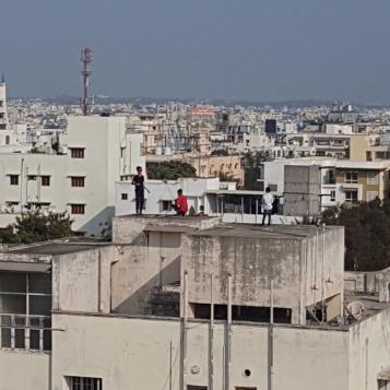 Kite fliers in Hyderabad